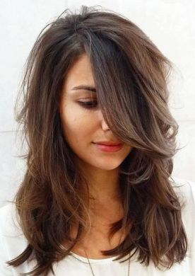 medium layered haircut for thick hair