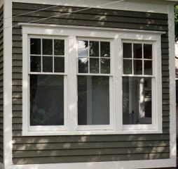 Love this 6 over 1 window style with wide trim