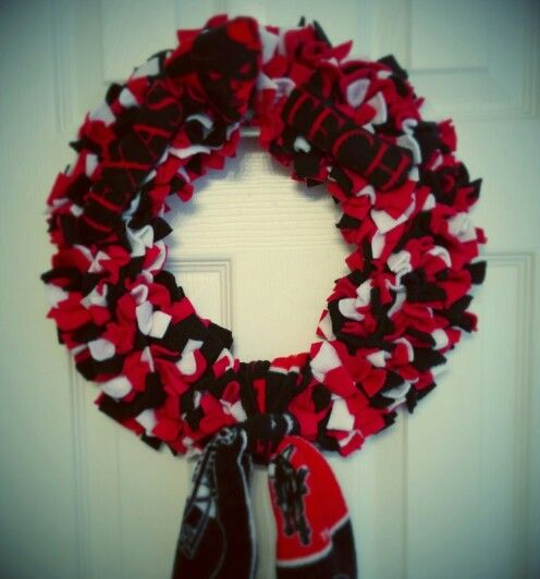 Texas Tech Red Raiders Polar Fleece Wreath