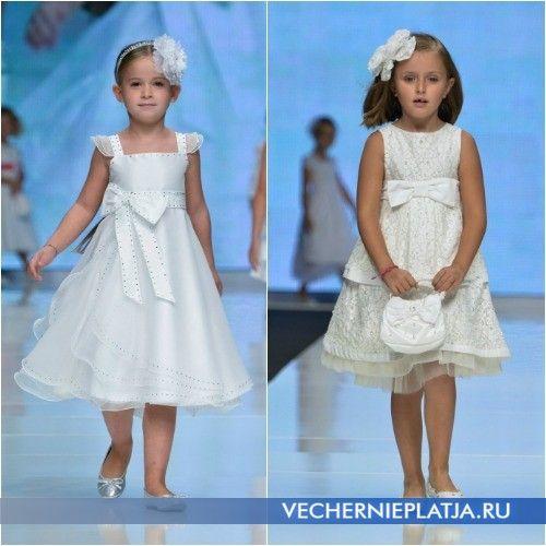 Свадебные наряды с завышенной талией для девочек