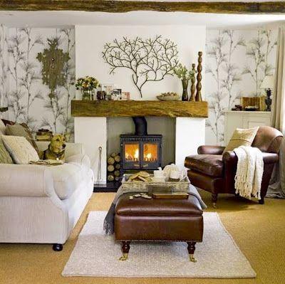 *** La chimenea: leña, carbón, gas, decorativa....*** (pág. 13)   Decorar tu casa es facilisimo.com