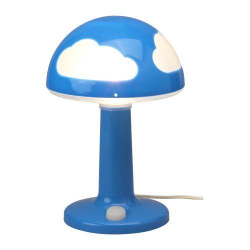 SKOJIG Bordlampe IKEA Testet og barnesikret mot nysgjerrige små fingre. Selvlysende strømbryter: Enkel å finne i mørket.