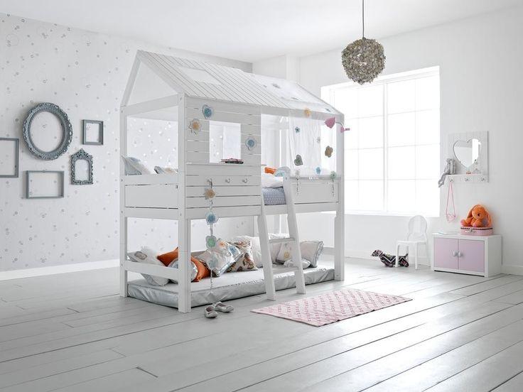 Wit gelakt hutbed Silversparkle hoog kopen? ✔ Ruime keuze aan hippe kinderbedden! ✔ Snelle levering ✔ Veilig online shoppen ✔