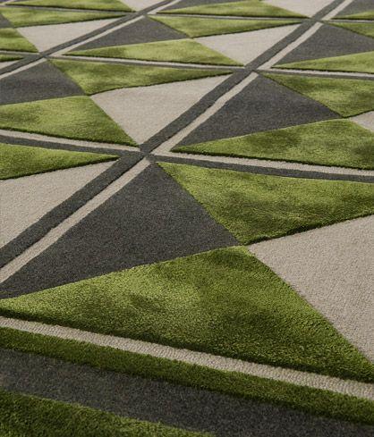 Edward Fields green geometric midcentury design
