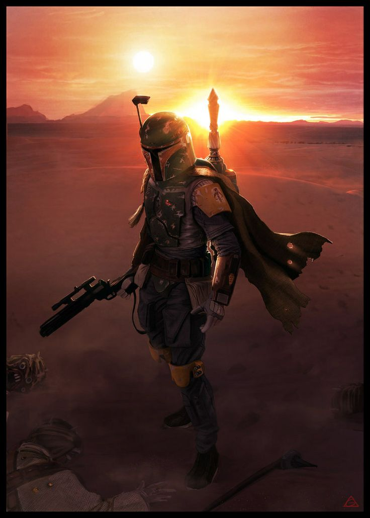 Boba Fett. Coolest bounty hunter in the saga. I want to see a spinoff about him.