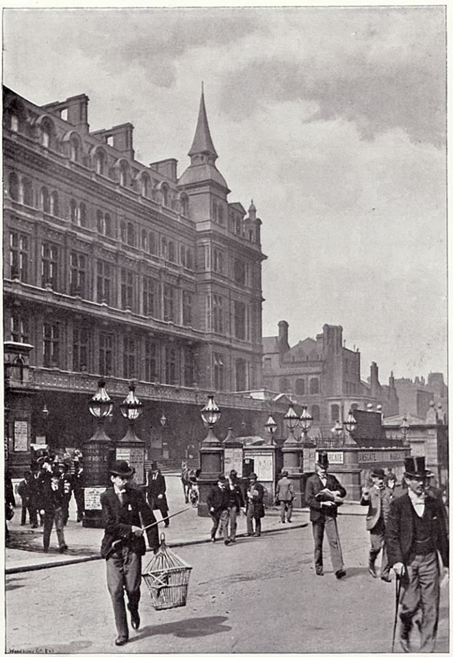Front of Canon Street Railway Station, London 1896