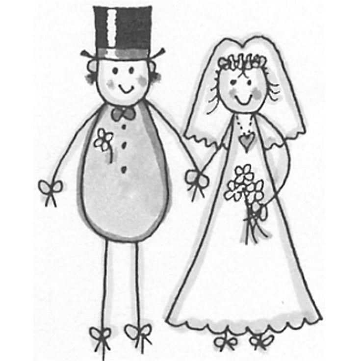 This is the stamp we use of bride & groom for top of invite
