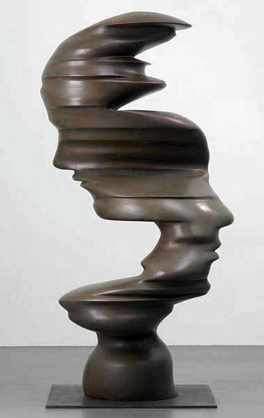 Tony Cragg.      The thought becomes more and more intense until, finally, its... - but does it float