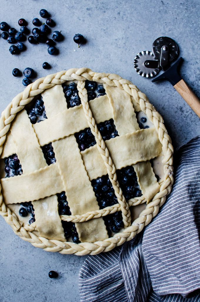 Simple blueberry buttermilk pie recipe with ginger. The DIY braided crust makes it extra special!