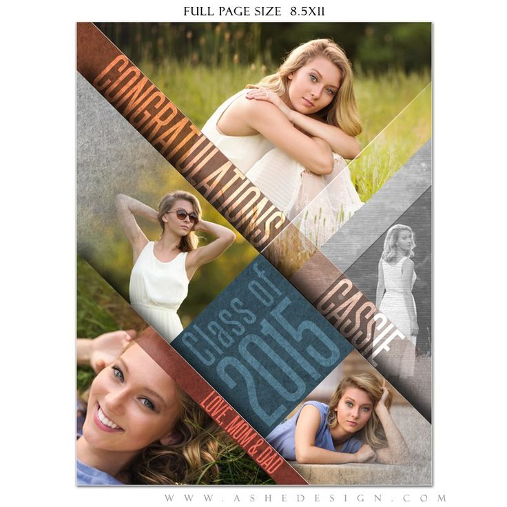 Ashe Design | Senior Yearbook Ad | Angled. Yearbook Ad Designs are an amazing up-sell for seniors or the perfect add-on for booking their session with you! Either way, parents will love these fun and professionally designed tributes to their teens.  Everyone will be talking about these amazing ads and you'll see the results in next year's appointments ... all from adding one cool new product to your offering! It takes minutes to design and costs nothing to produce!