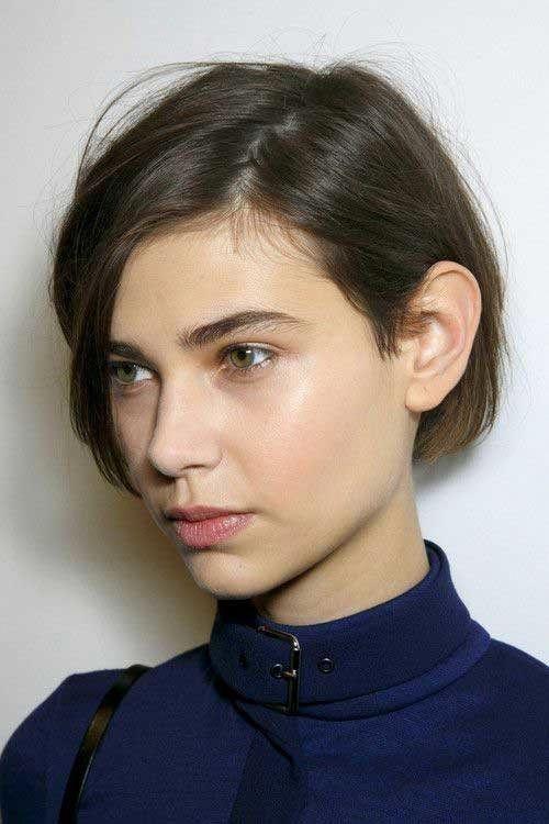 Kurze Haarschnittbilder für glattes Haar   – short-haircut – #für #glattes #Ha…