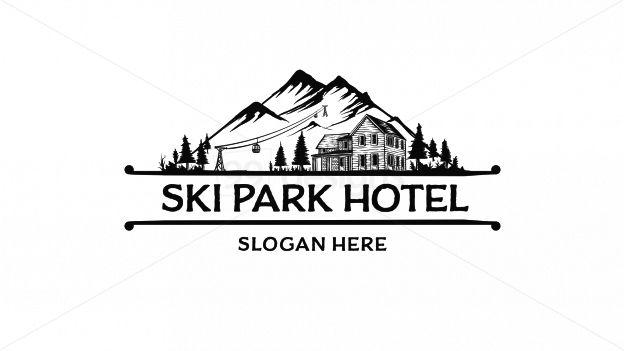 ski park hotel on 99designs Logo Store