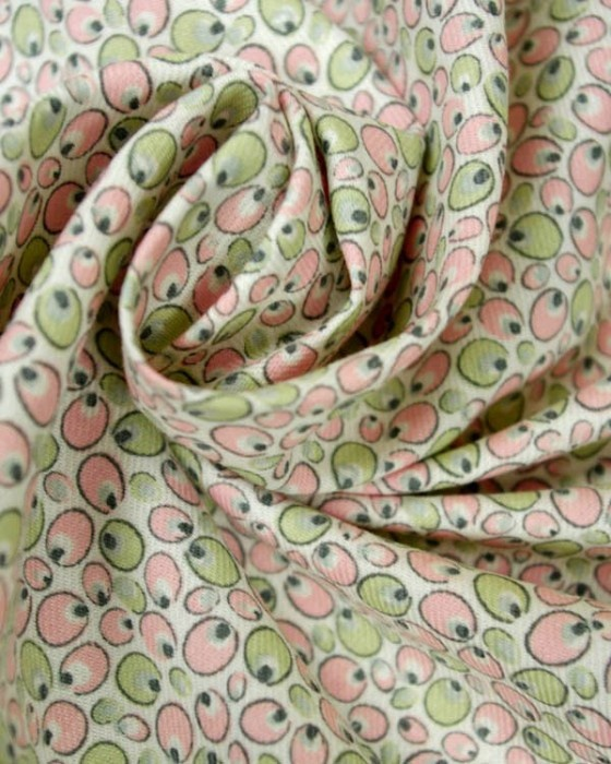 Brushed Cotton Twill Fabric - Retro Spot Pink
