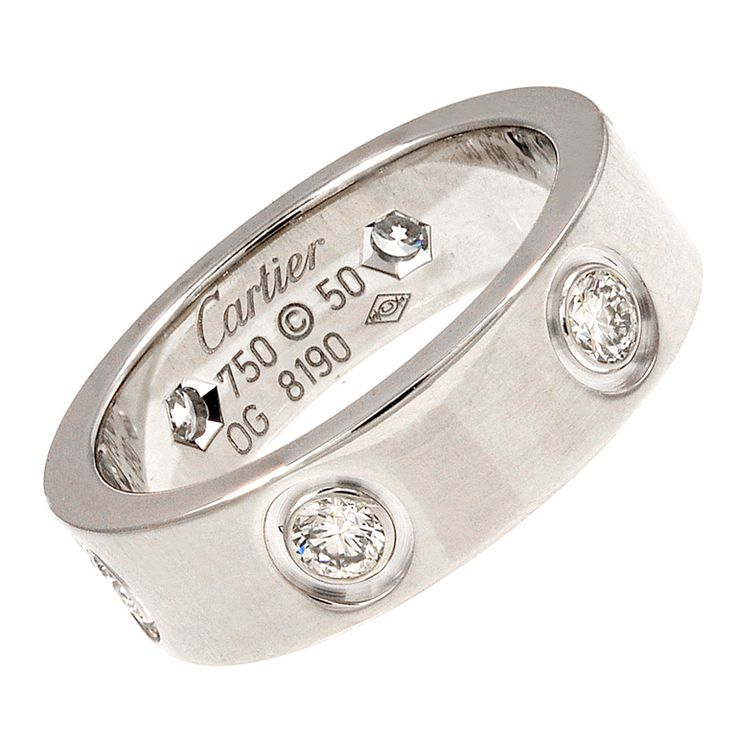 LOVE this CARTIER White gold and Diamond Love Ring
