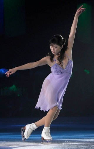 Kristi Yamaguchi- Purple Figure Skating / Ice Skating dress inspiration for Sk8 Gr8 Designs.