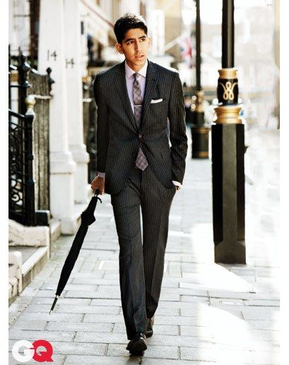 The Quiet Chalk Stripe Thanks to slimmer, more subtle stripes, this fall's wool chalk-striped suit—pared down to a lean silhouette—swaps its dandy rep for some modern swagger. Wool-cashmere suit $2,090, by Etro. Shirt, $225, tie, $135, by Burberry London. Shoes, $625, by Giorgio Armani. Tie bar by Alfani. Pocket square by Dion Collections. Umbrella by Ermenegildo Zegna.