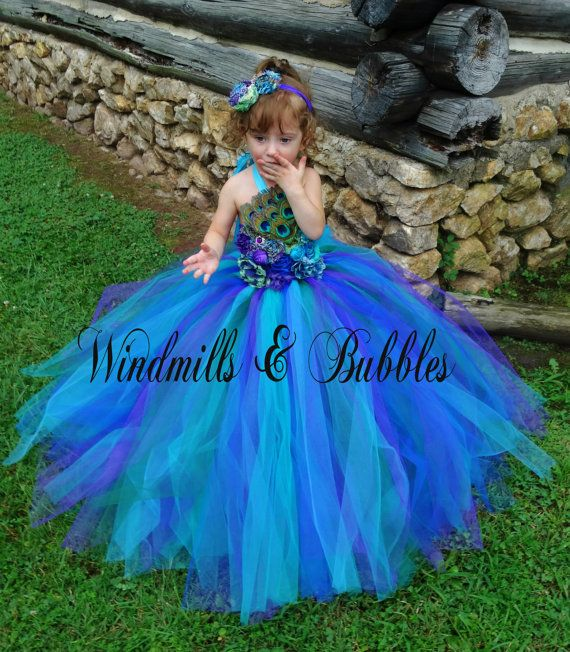 Peacock Tutu Dress SALE by WindmillsandBubbles on Etsy