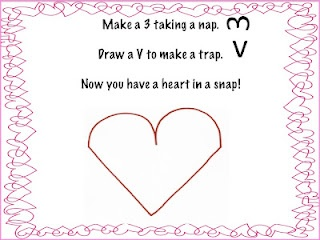 Simple poem for teaching kids how to draw a heart