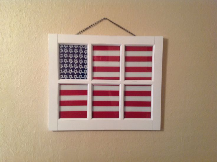 american flag window sticker