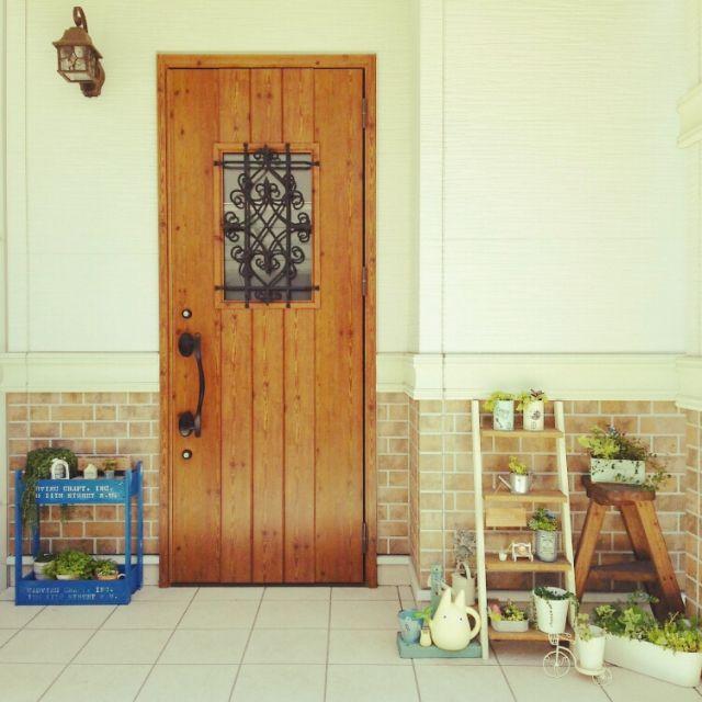 玄関/入り口/玄関/雑貨/多肉植物/植物/100均…などのインテリア実例 - 2015-05-21 17:28:14 | RoomClip(ルームクリップ)