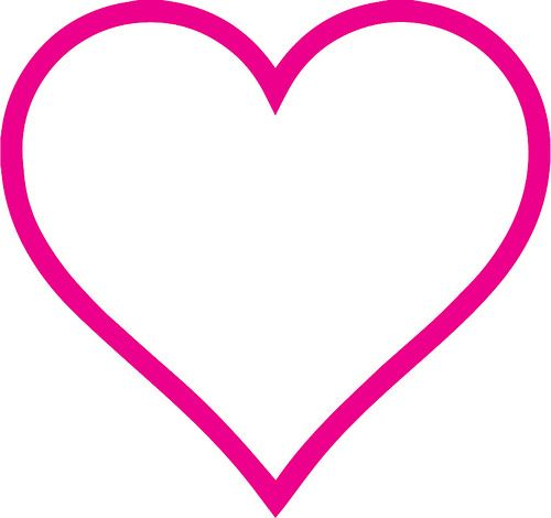 Download Heart Outline   Free silhouette designs, Heart outline ...