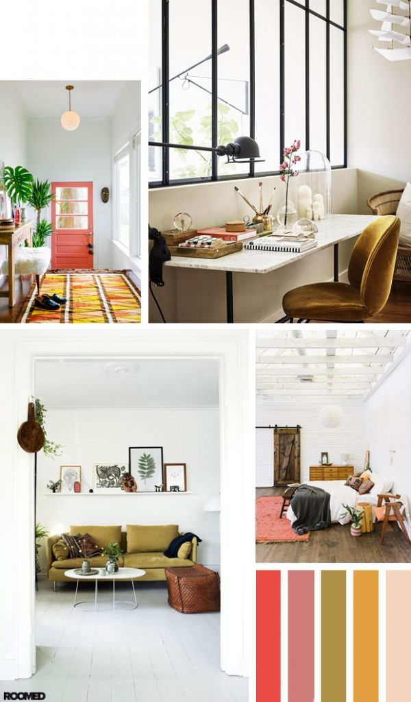Colorboost: bohemian interior with mustard yellow and coral - Roomed