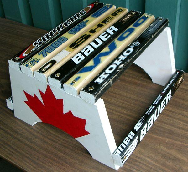 hockey stick stepstool