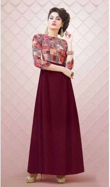 A-line Style Georgette Maroon Color Party Wear Readymade Kurtis | FH543781610 Follow us @heenastyle <<< #indowestern #fashion #fashiondiaries #fashiondesigner #fashionstylist #women #dress #ootd #like4like #ethnicwear #westernwear #kurti #designerkurti #shopping #shop #shoppingonline #shopnow #2017 #mydubai #usa #ootd #canada #indiancouture #tornoto #australia #pakistanicouture #partywear #bollywoodfashion #style #heenastyle