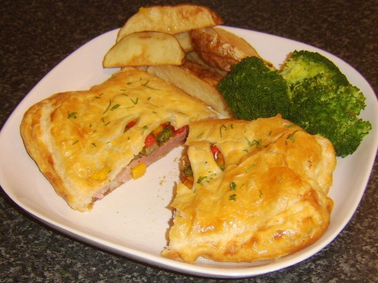 Gammon (Ham) Steak en Croute with Spicy Pineapple Filling - and easy to make and elegant dish.