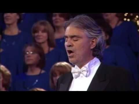"""BEST Andrea Bocelli Song EVER! - (HQ Sound) - The Lord's Prayer Listen as he joins the Mormon Tabernacle Choir in Salt Lake City, Utah for an unforgettable rendition of """"The Lord's Prayer."""""""