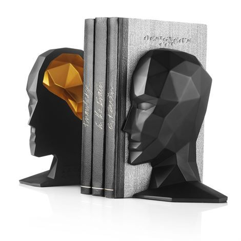 Knowledge in the brain bookend. Design Karim Rashid for Menu.