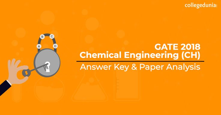 Gate Chemical Engineering 2018 Answer Key