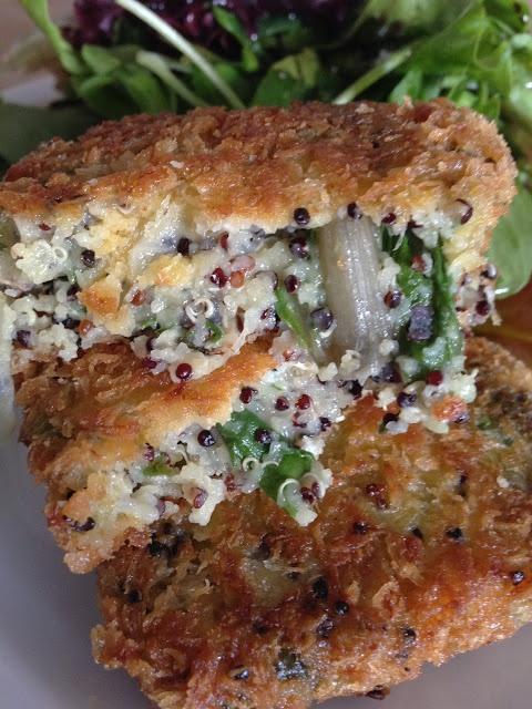 Croquetas de quinoa, acelgas y gruyere