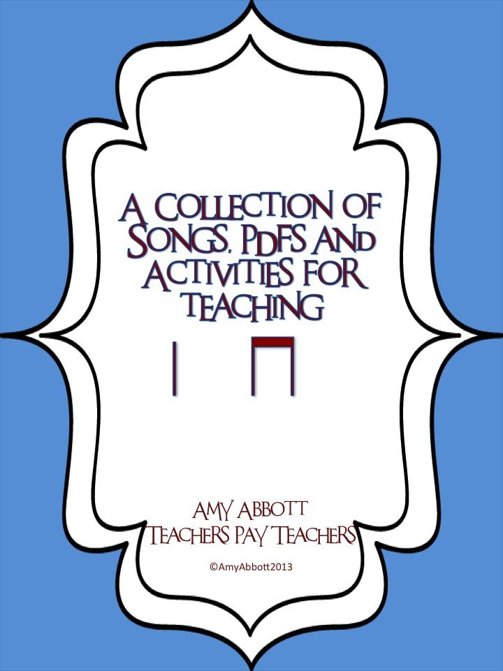 """Music a la Abbott: A Collection of Ta & Ti-Ti Songs, PDF's and Worksheets AND a Blog Readers' """"Rate it to Get it"""""""