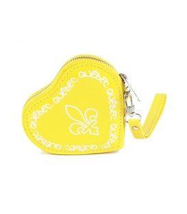 Yellow Quebec Heart Coin Purse