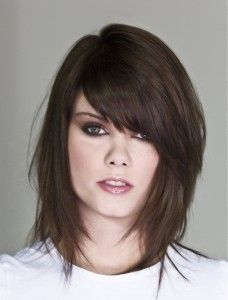 medium length with bangsMedium Length, Layered Hairstyles, Layered Haircuts, Hair Cut, Bangs, Hair Style, Wigs, Medium Hairstyles, Hair Color