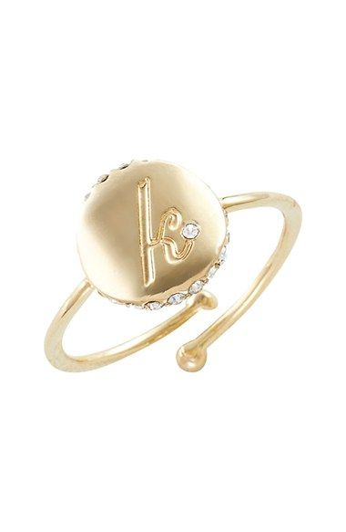 kate spade new york initial ring available at #Nordstrom