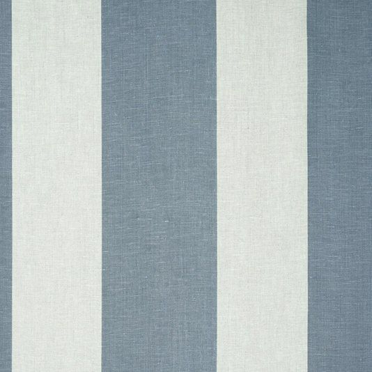 natural elephant stripe fabric a soft and gentle linen fabric with stripe design in slate - Linen Fabric