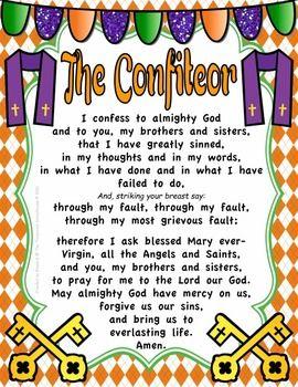 The Confiteor Prayer Pack
