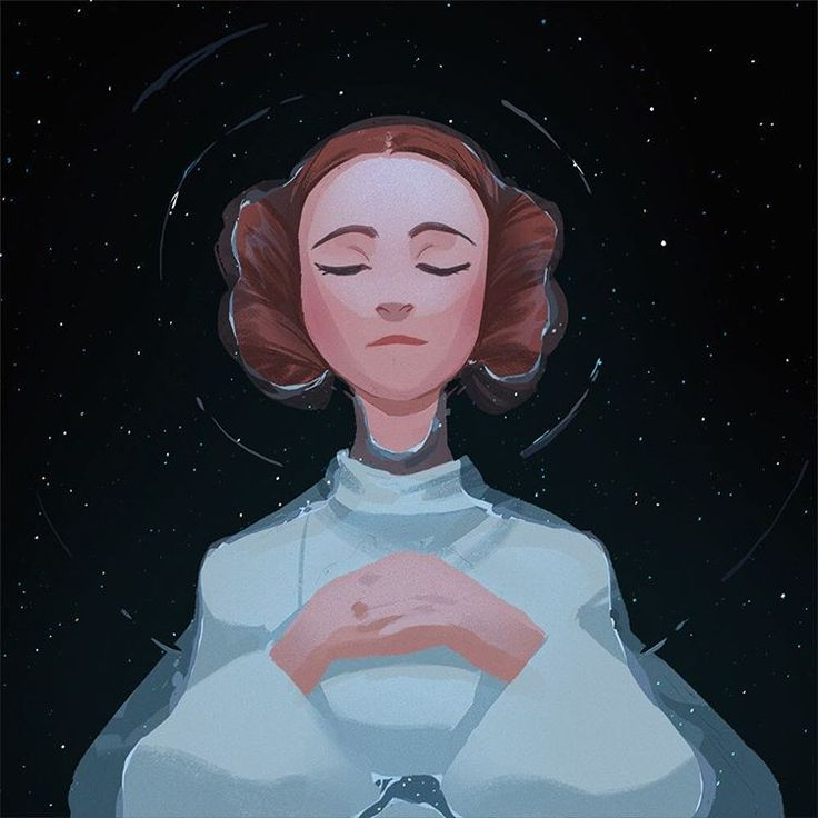 "Art of Celine Kim. ""May the force be with you."" -Princess Leia"