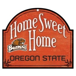 """OREGON STATE BEAVERS OFFICIAL 11""""X9"""" NCAA WOOD SIGN"""