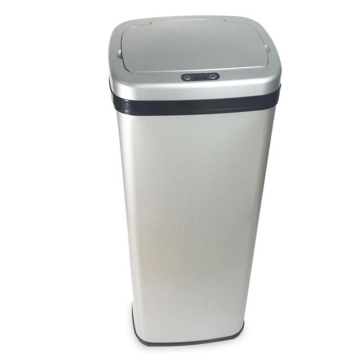 MOA volautomatische sensor vuilnisbak - zilver  Description: Schitterende nieuwe MOA actie met 50 liter Sensor Bins in topdesign!Volautomatischevuilnisbak met maar liefst 50 liter inhoud!Superluxe Color Edition (geen vingerprint zichtbaar)In2 trendkleuren: Zilver en rood Hand boven de bak en hij opent automatisch en sluit automatisch hygiënischer kan niet! Ideaal in elke keuken bijkeuken garage of voor horeca gebruik! De slimme infrarood gestuurde prullenbak gaat volledig automatisch open en…