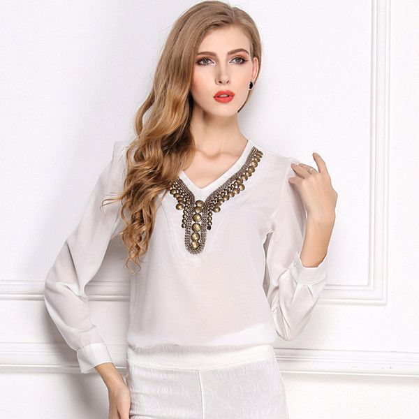 Hot SALE! 2015 New Chiffon Solid Women T-Shirt Free Shipping Sequined Ancient Summer Solid Women T-shirt