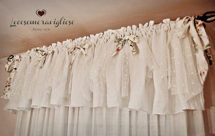 65 best tendaggi images on Pinterest | Curtains, Kitchen curtains ...