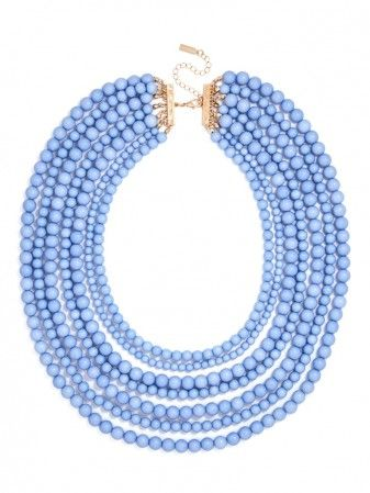 Statement Necklace. periwinkle.