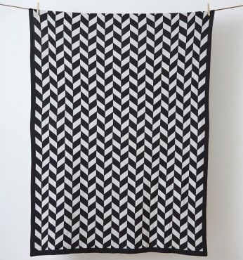 LET LIV - Kate & Kate Jagger Blanket & Throw in Black & Grey