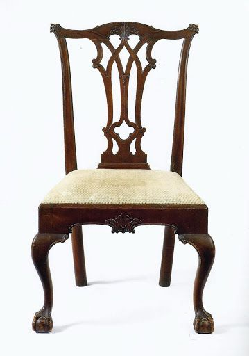 gothic diners chair cupboard chairs diner set mahogany itm ebay chippendale dining product furniture