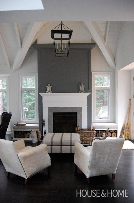 Putty Coloured Painted Fireplace