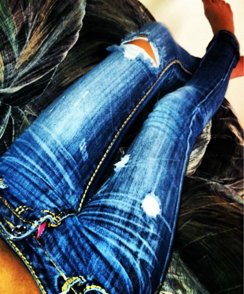 Don't care what people say about how much I pay for ripped jeans. Love love love themmmm!