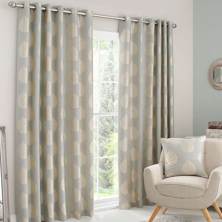 Duck Egg Eden Lined Eyelet Curtains Dunelm Interior
